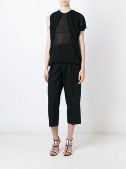 Прозрачная Блузка С Драпированными Деталями Dsquared2                                                                                                              чёрный цвет
