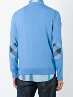 Свитер C V-Образным Вырезом Burberry Brit                                                                                                              синий цвет