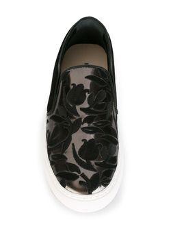 Кеды-Слипон С Вышивкой Markus Lupfer                                                                                                              чёрный цвет
