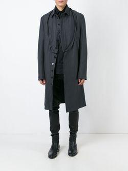 Пальто С Застежкой-Молнией Спереди Ann Demeulemeester                                                                                                              серый цвет
