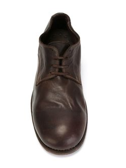 Туфли Дерби С Эффектом Поношенности GUIDI                                                                                                              коричневый цвет