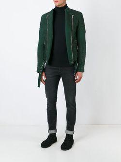 Байкерская Куртка Balmain                                                                                                              зелёный цвет