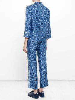 Medallion Print Silk Pyjama Trousers FOR RESTLESS SLEEPERS                                                                                                              синий цвет