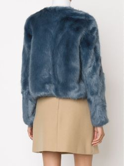 Пиджак Из Искусственного Меха На Пуговицах SHRIMPS                                                                                                              синий цвет