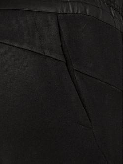 Брюки С Эластичным Поясом В Рубчик JULIUS                                                                                                              черный цвет