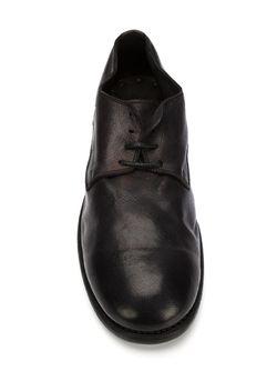 Туфли Дерби С Эффектом Поношенности GUIDI                                                                                                              черный цвет