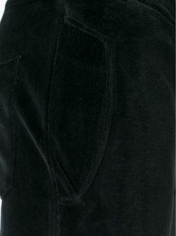Бархатные Байкерские Брюки Balmain                                                                                                              чёрный цвет
