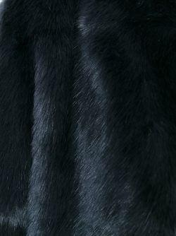 Меховое Пальто 08SIRCUS                                                                                                              синий цвет