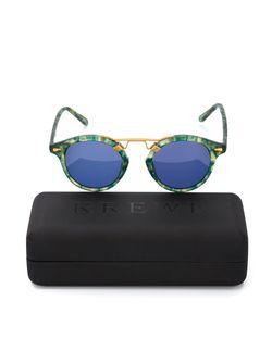 Солнцезащитные Очки St. Louis Krewe du Optic                                                                                                              зелёный цвет