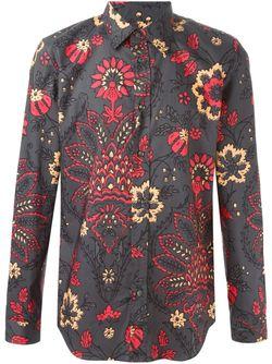 Рубашка С Цветочным Принтом Maison Margiela                                                                                                              серый цвет