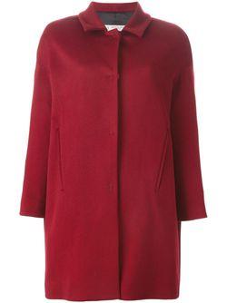 Однобортное Пальто Alberto Biani                                                                                                              красный цвет