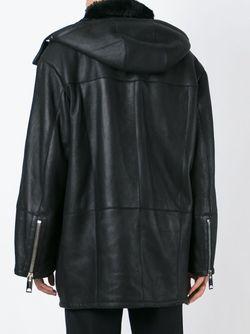 Удлиненная Дубленка С Капюшоном Les Hommes                                                                                                              чёрный цвет