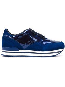 Кроссовки С Панельным Дизайном Hogan                                                                                                              синий цвет