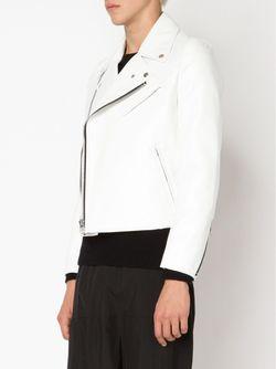 Байкерская Куртка С Принтом На Спине COMME DES GARCONS HOMME PLUS                                                                                                              белый цвет