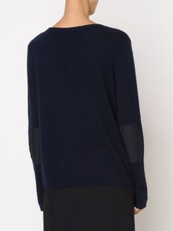 Свитер С V-Образным Вырезом NLST                                                                                                              синий цвет