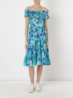 Ondas Midi Dress Isolda                                                                                                              синий цвет