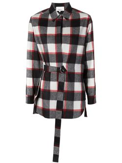 Фланелевая Рубашка В Клетку 3.1 Phillip Lim                                                                                                              черный цвет