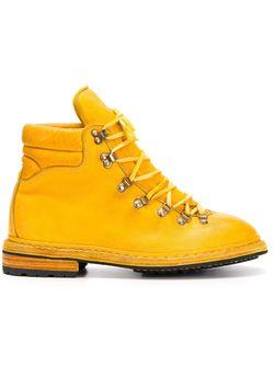 Походные Ботинки На Шнуровке GUIDI                                                                                                              желтый цвет