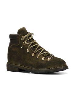 Походные Ботинки На Шнуровке GUIDI                                                                                                              зелёный цвет