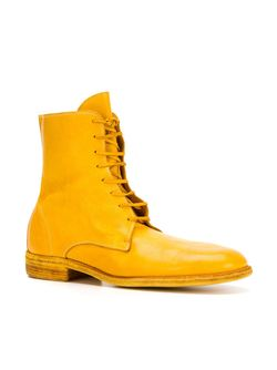 Ботинки На Шнуровке GUIDI                                                                                                              желтый цвет