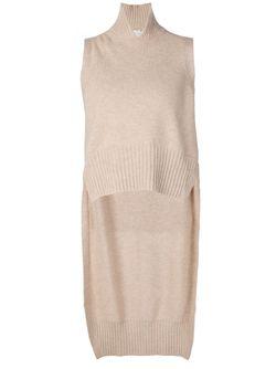 High-Low Hem Knitted Vest ROSETTA GETTY                                                                                                              коричневый цвет