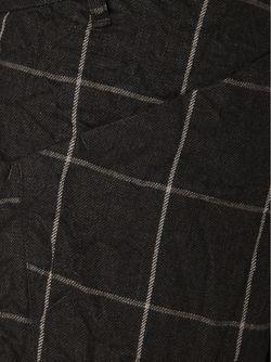 Укороченные Брюки В Клетку KAZUYUKI KUMAGAI                                                                                                              чёрный цвет
