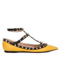 Rockstud Ballerinas Valentino Garavani                                                                                                              желтый цвет
