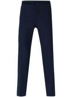 Velvet Trim Tailored Trousers Haider Ackermann                                                                                                              синий цвет