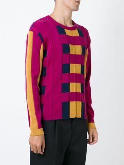 Вязаный Свитер Колор-Блок Issey Miyake                                                                                                              розовый цвет