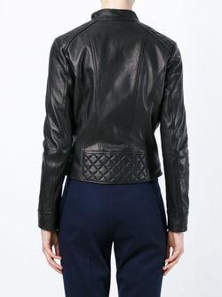 Байкерская Куртка Со Стеганой Панелью Eleventy                                                                                                              черный цвет