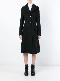 Однобортное Пальто В Стиле Милитари Alexander McQueen                                                                                                              чёрный цвет