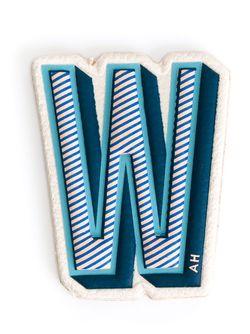 Нашивка W Anya Hindmarch                                                                                                              синий цвет