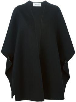 Объемное Пальто С Широкими Рукавами Valentino                                                                                                              чёрный цвет