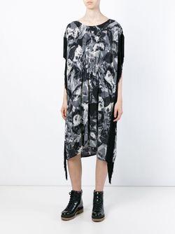 Длинное Платье С Принтом Zucca                                                                                                              серый цвет