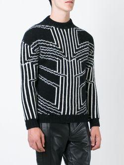 Intarsia Geometric Sweater Les Hommes                                                                                                              черный цвет