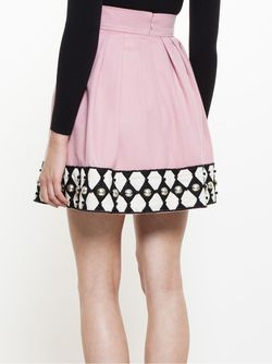 Embroidered Mini Skirt Olympia Le-Tan                                                                                                              None цвет
