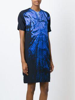 Платье Шифт С Принтом Victoria, Victoria Beckham                                                                                                              чёрный цвет