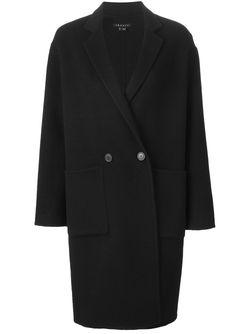 Двубортное Пальто Theory                                                                                                              черный цвет
