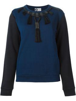 Декорированная Толстовка Колор-Блок Lanvin                                                                                                              синий цвет