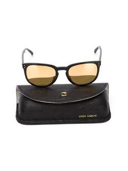 Солнцезащитные Очки В Круглой Оправе Linda Farrow                                                                                                              черный цвет