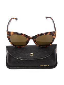 Cat-Eye Sunglasses Linda Farrow                                                                                                              черный цвет