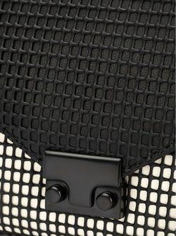 Клатч С Сетчатым Узором Loeffler Randall                                                                                                              чёрный цвет