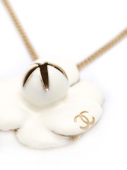 Camelia Pendant Necklace Chanel Vintage                                                                                                              белый цвет