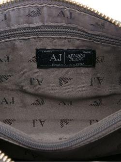 Клатч С Тисненым Логотипом ARMANI JEANS                                                                                                              серый цвет