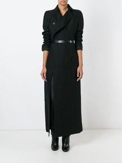 Длинное Двубортное Пальто Haider Ackermann                                                                                                              черный цвет