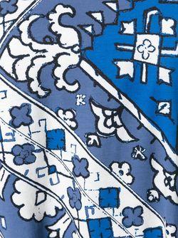 Футболка С Принтом Moroccan Tory Burch                                                                                                              синий цвет