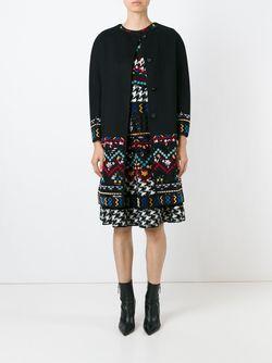 Пальто С Вышивкой Ermanno Scervino                                                                                                              чёрный цвет
