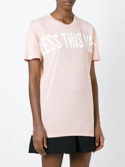 Футболка С Принтом Bless This Mess Zoe Karssen                                                                                                              розовый цвет