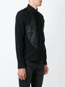 Рубашка С Панельным Дизайном Ann Demeulemeester                                                                                                              черный цвет