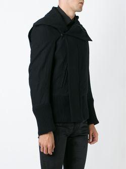 Off-Centre Fastening Jacket Ann Demeulemeester                                                                                                              черный цвет